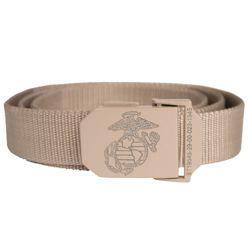 Opasek kalhotový USMC s kovovou sponou KHAKI
