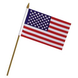 Vlajka na tyèce USA 10 x 15 cm