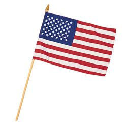 Vlajka na tyèce MINI AMERICAN 20 x 30 cm