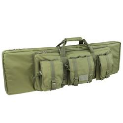 Taška na pušku 105 cm se 3 kapsami a popruhy ZELENÁ