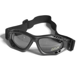 Brýle COMMANDO AIR Mil-Tec ÈERNÉ KOUØOVÉ
