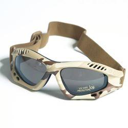 Brýle COMMANDO AIR Mil-Tec 6-COL DESERT KOUØOVÉ