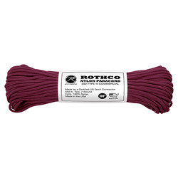 Šòùra PARACORD nylon 550LB 30m 4mm BURGUNDY