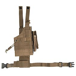 Pouzdro pro pistol na stehno oboustranné US MODULAR COYOTE