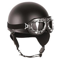 Helma motocyklová RETRO ÈERNÁ