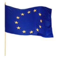 Vlajka na tyèce EU