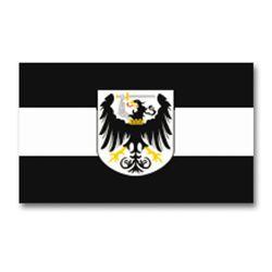 Vlajka ZÁPADOPRUSKO s emblemem