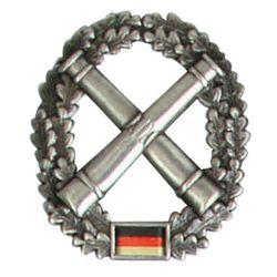 Odznak BW na baret Artillerie truppe