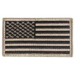 Nášivka US vlajka 4,5 x 8,5 cm ÈERNÁ/KHAKI