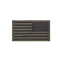 Nášivka US vlajka 4,5 x 8,5 cm reverzní ÈERNÁ/ZELENÁ