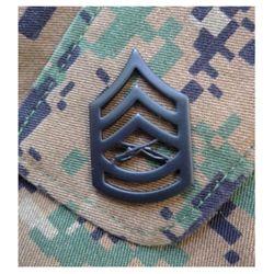 Odznak hodnostní USMC - GySgt. - ÈERNÝ pár