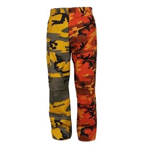 Kalhoty dvoubarevné BDU YELLOW ORANGE CAMO