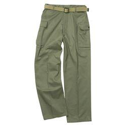 Kalhoty US HBT ZELENÉ repro