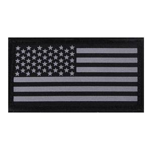 Nášivka REFLEXNÍ vlajka USA velcro ÈERNÁ