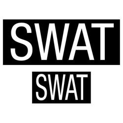 Nášivka SWAT velcro 2 rozmìry v balení ÈERNÁ