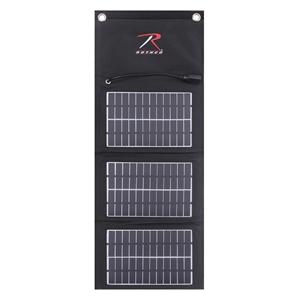 Nabíjeèka solární USB skládací MOLLE ÈERNÁ
