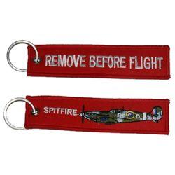 Klíèenka REMOVE BEFORE FLIGHT / SPITFIRE - zvìtšit obrázek