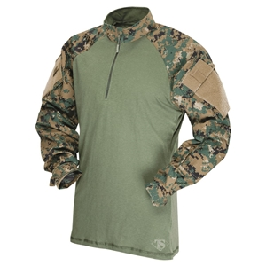Košile taktická COMBAT TRU 1/4 ZIP DIGITAL WOODLAND - MARPAT