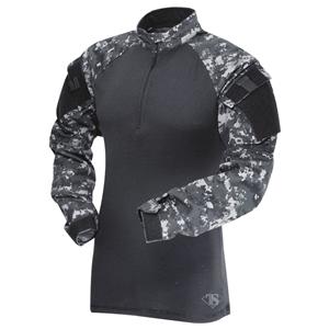 Košile taktická COMBAT TRU 1/4 ZIP URBAN DIGITAL/ÈERNÁ