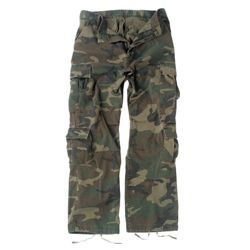 Kalhoty VINTAGE PARATROOPER WOODLAND