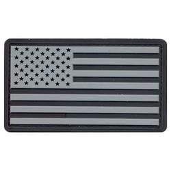 Nášivka vlajka USA plast ÈERNÁ/ŠEDÁ