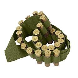 Pás BANDOLIER na náboje do brokovnice ZELENÝ