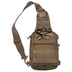 Taška pøes rameno SHOULDER BAG MOLLE COYOTE BROWN
