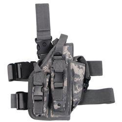 Pouzdro na pistol a zásobníky stehenní pravé ACU DIGITAL