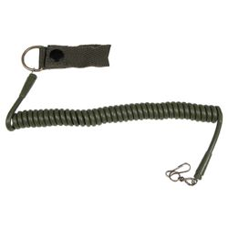 Kabel (telefonní) bezpeènostní ke zbrani ZELENÝ