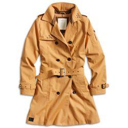 Doprodej Kabát TRENCHCOAT dámský HNÌDÝ