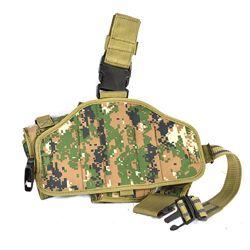 Pouzdro pistolové stehenní se zásobníky pravé DIGITAL WOODLAND