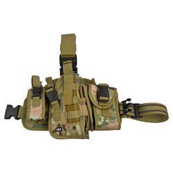 Pouzdro pistolové stehenní se zásobníky pravé MULTICAM
