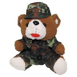 Medvídek plyšový v obleèení 28 cm FLECKTARN