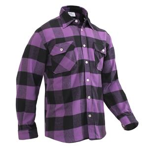 Košile døevorubecká FLANNEL kostkovaná FIALOVÁ