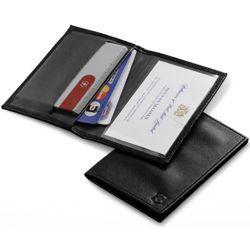 Pouzdro kožené pro SwissCard ÈERNÉ