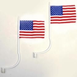 Vlajka USA s úchyty na SPZ pár