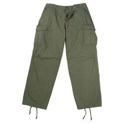 Kalhoty VINTAGE VIETNAM ERA ZELENÉ