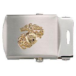Pøezka na pásek s USMC symbolem CHROMOVANÁ