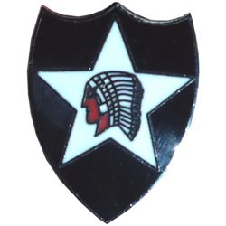 Odznak US 2nd INFANTRY DIVISION / indián barevný /