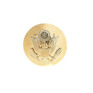 Odznak US ARMY èepicový kulatý ZLATÝ