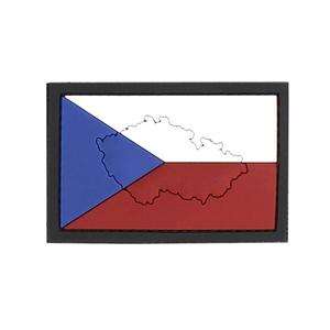 Nášivka 3D plastová vlajka ÈR mapa