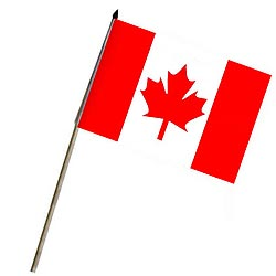 Vlajka na tyèce KANADA