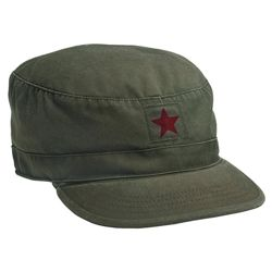 Èepice VINTAGE FATIGUE RED STAR ZELENÁ