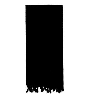 Šátek SHEMAGH odlehèený ÈERNÝ 105 x 105 cm