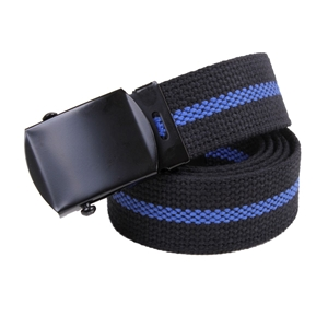 Opasek US kalhotový ÈERNÝ s modrou linkou