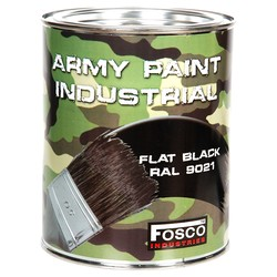 Barva ARMY nátìrová 1l RAL 9021 ÈERNÁ