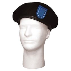 Baret US ÈERNÝ s BLUE FLASH