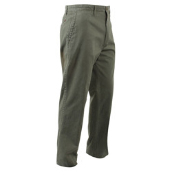 Kalhoty DELUXE CHINOS 4 kapsy ZELENÉ
