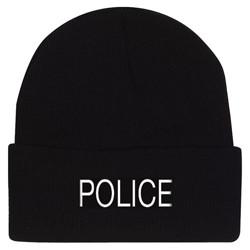 Èepice pletená POLICE ÈERNÁ