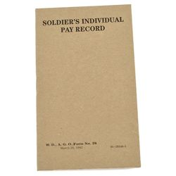 Prùkaz US SOLDIERS INDIVIDUAL PAY RECORD